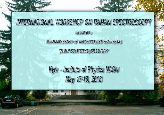 INTERNATIONAL WORKSHOP ON RAMAN SPECTROSCOPY | IOP